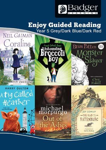 Enjoy Guided Reading KS2 Book Bands: Year 5 Grey, Dark Blue & Dark Red Teacher Book & CD Badger Learning