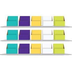 Colour Coded Storage Boxes for Year 2 Book Bands