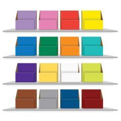 Colour Coded Storage Boxes for KS1 & KS2 Book Bands