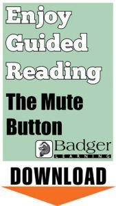 Enjoy Guided Reading: The Mute Button Teacher Notes