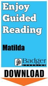 Enjoy Guided Reading: Matilda Teacher Notes