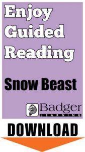 Enjoy Guided Reading: Snow Beast Teacher Notes