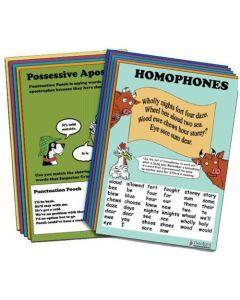 English Sharpener Posters: Spelling, Grammar & Punctuation